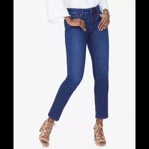 NYDJ Sheri Tummy-Control Slim-Leg Jeans 12